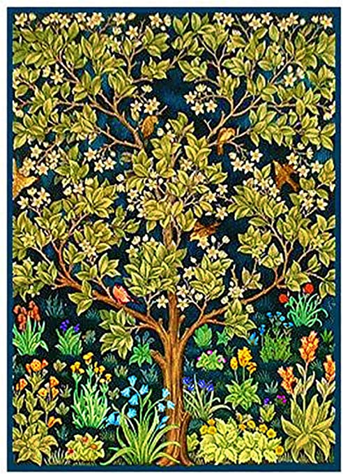 Jardín de las delicias terrenales detalle por William Morris de punto de patrón de punto de cruz: Amazon.es: Juguetes y juegos