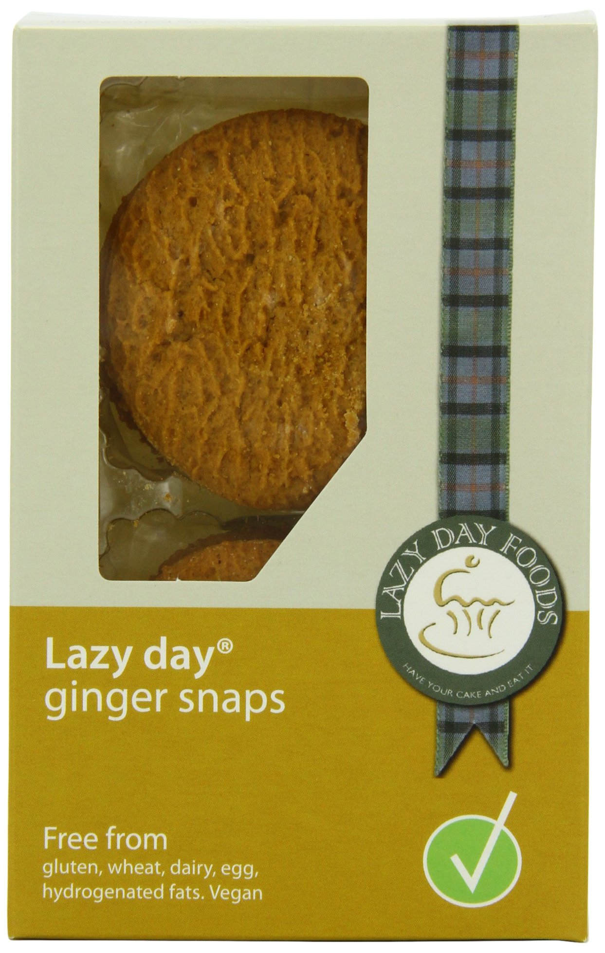 Lazy Day Foods Ginger Snaps, 3.5-Ounce Packages (Pack of 4)