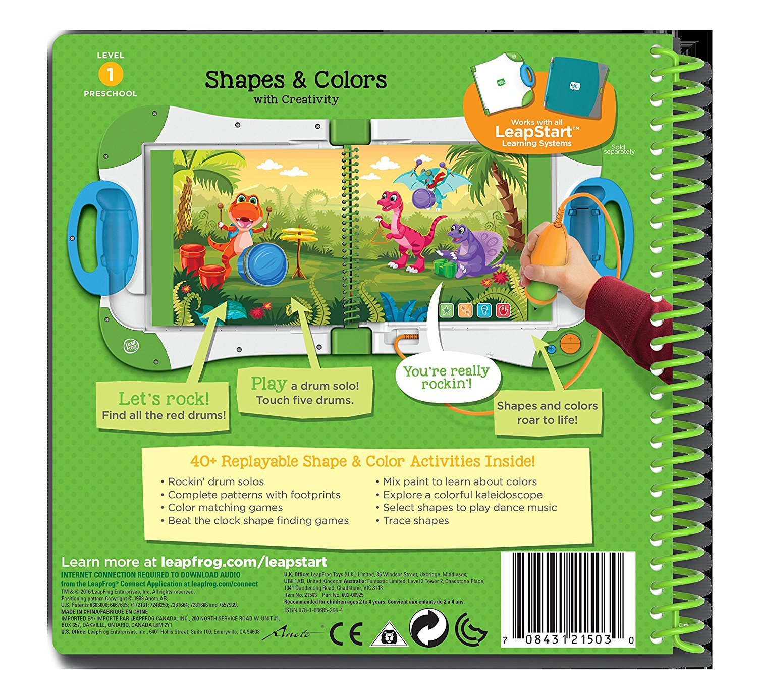 Amazon.com: LeapFrog LeapStart Preschool Activity Book: Shapes and ...
