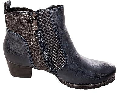 6b30959d1 MARCO TOZZI Ladies Womens 25309 Low Heel Ankle Boots Inner Zip Comfort  Walking Shoes (3.5