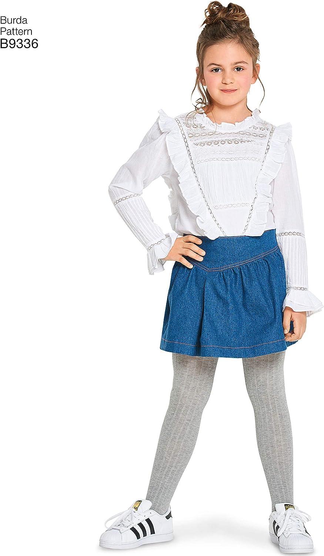Burda patrón 9336 – Falda para niños, de 128 A 158 cm: Amazon.es ...