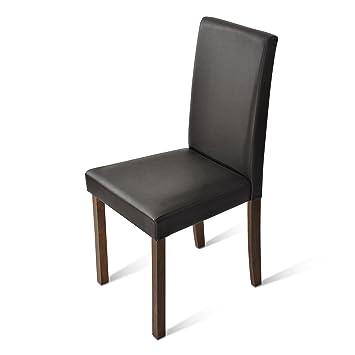 Sam® Polster-Stuhl Billi, Esszimmer-Stuhl, Lederimitat, Braun