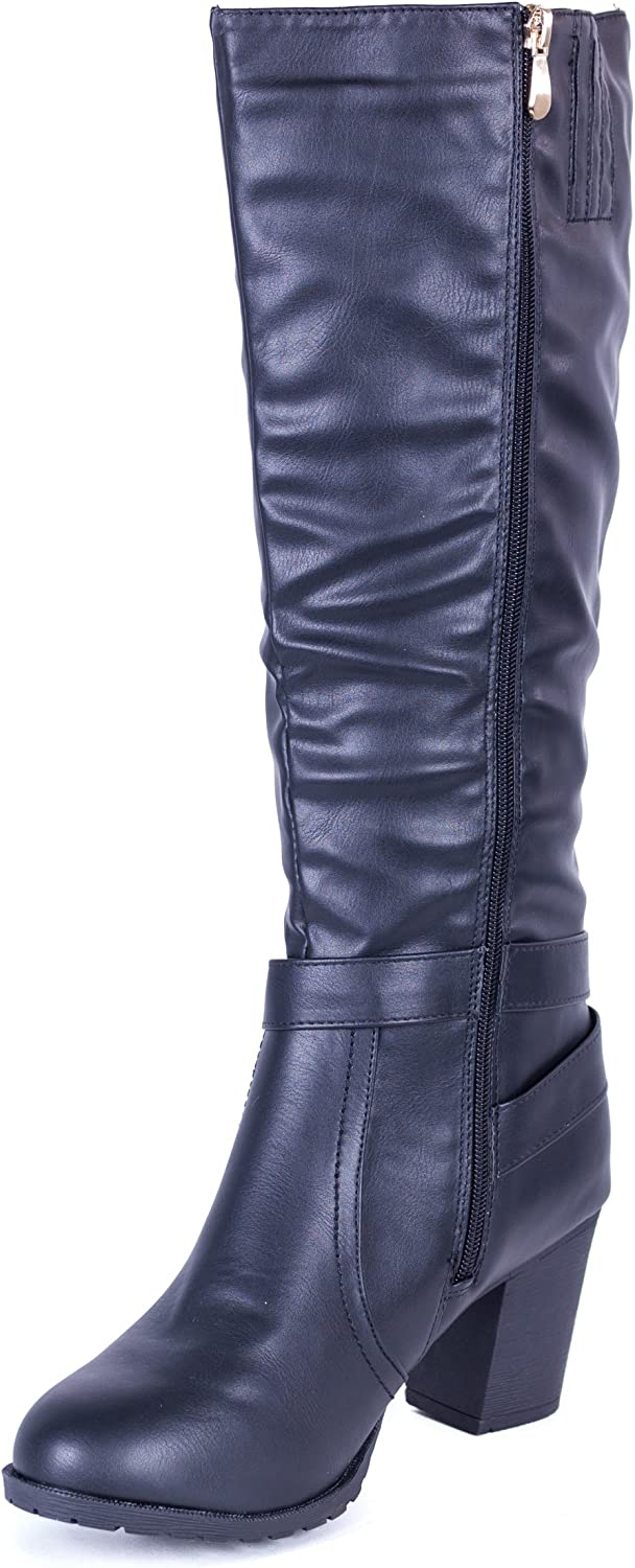 Forever Young Couture Women Fall Fashion Knee High Heel Boots //w Side-Zipper