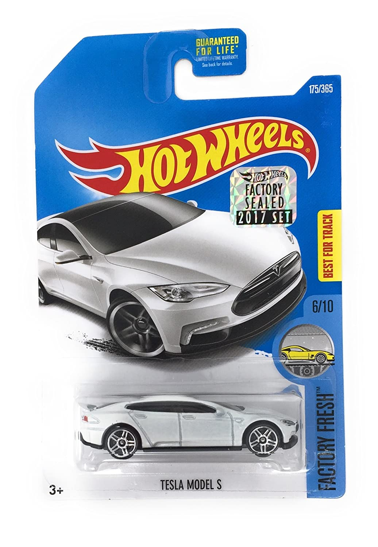 Hot Wheels 2017 Factory Fresh Tesla Model S 175/365, White FACTORY HOT WHEELS RW-KN-238