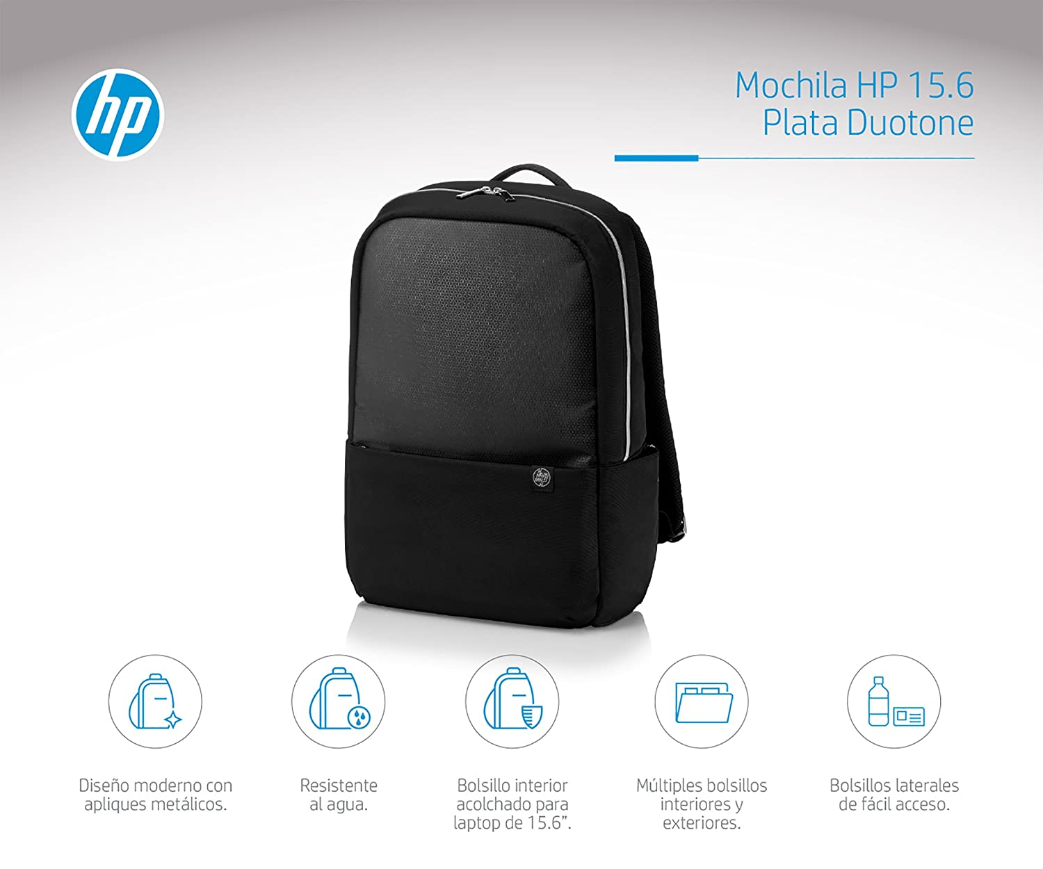Amazon.com: HP 15.6 Duotone Backpack - Silver: Computers ...
