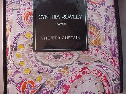Amazon Cynthia Rowley Eaton Paisley Orange Purple Gray Red
