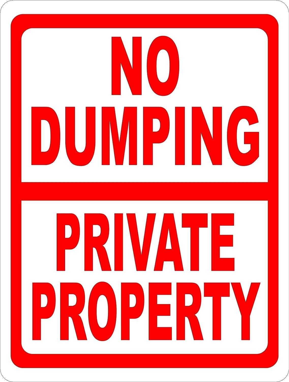 Private Property No Dumping Propiedad Privada No Se Permite Tirar Aluminum sign