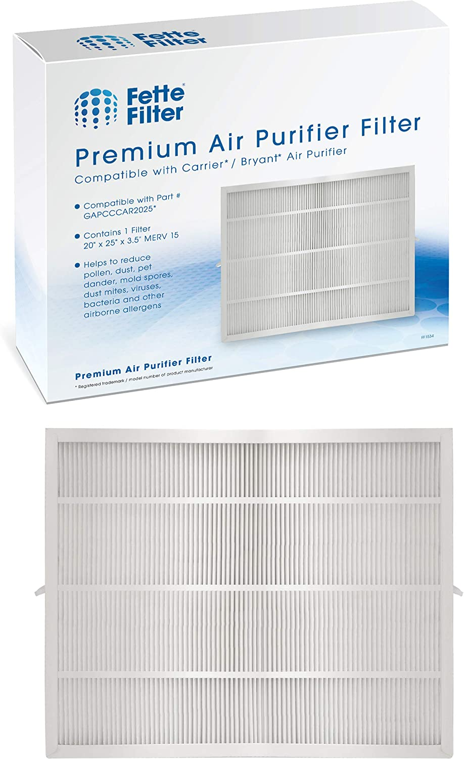 Fette Filter - Air Purifier Cartridge Filter Compatible with Bryant/Carrier (20