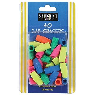 Sargent Art 36-1015 40 Count Cap Eraser: Toys & Games