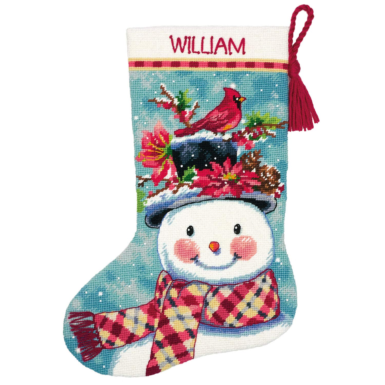 Needlepoint Christmas Stocking Kit.Amazon Com Dimensions 71 09159 Needlepoint Seasonal Snowman
