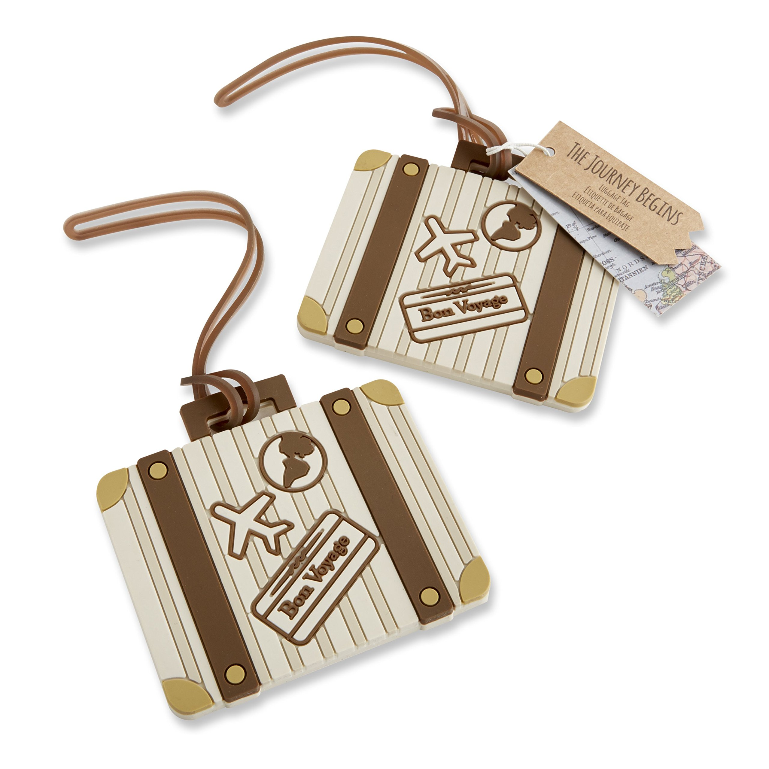 Kate Aspen Vintage Suitcase Bundle of 12 Luggage Tags, Multi-Colored by Kate Aspen
