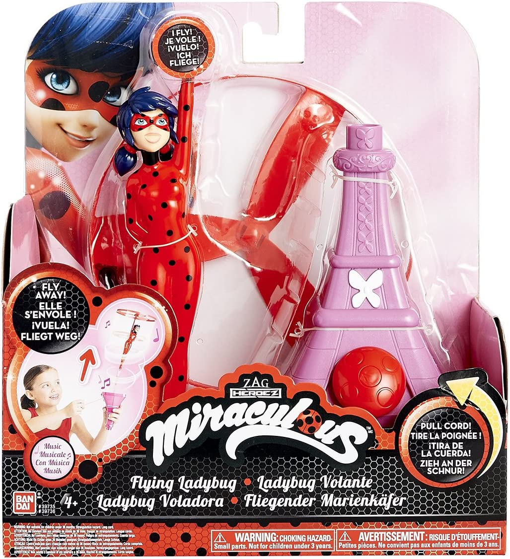 Miraculous Ladybug Bandai Ladybug volante /& musicale 39735 jeu plein air