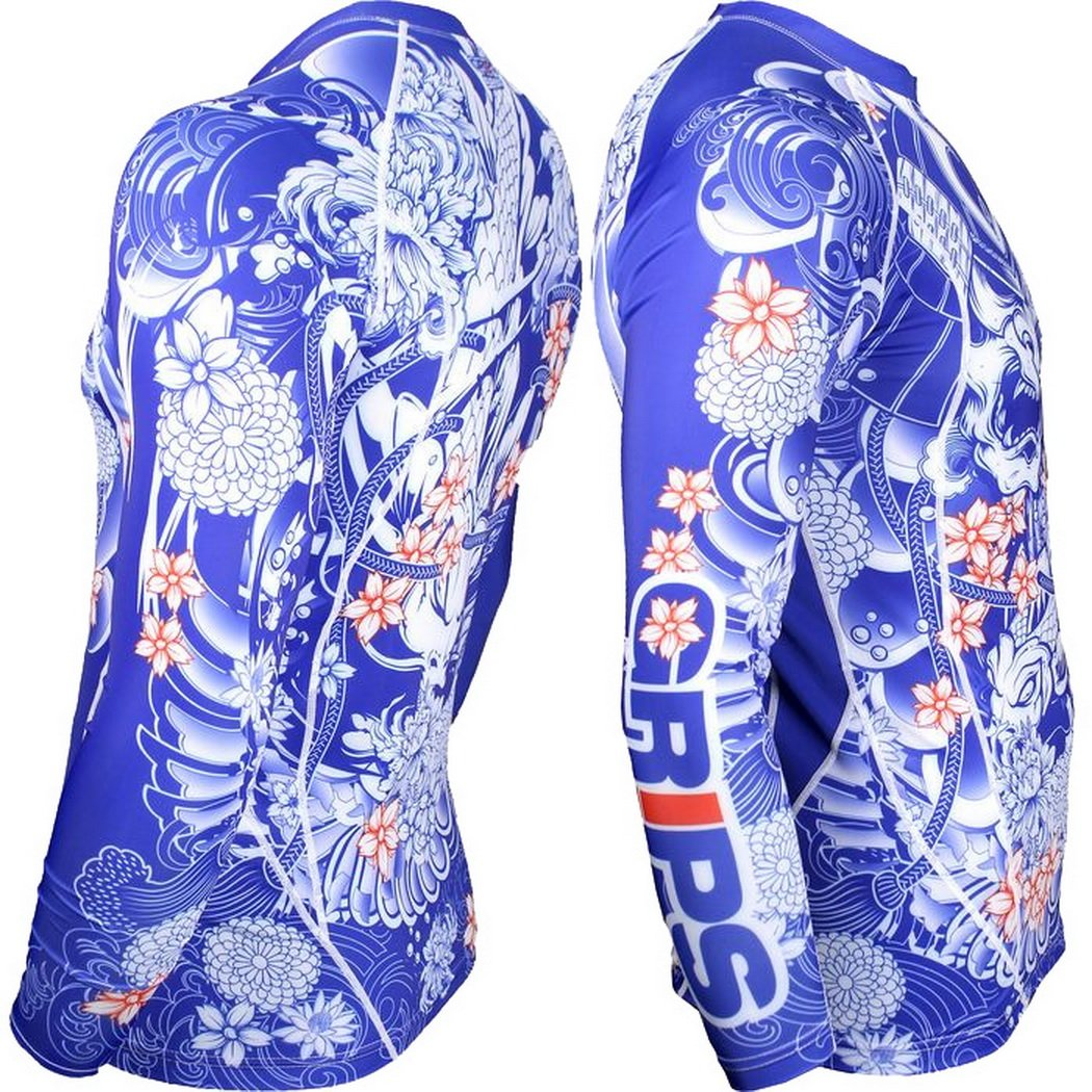 Rashguard Grips Bushido Limited Edition T-Shirt de compression MMA BJJ UFC