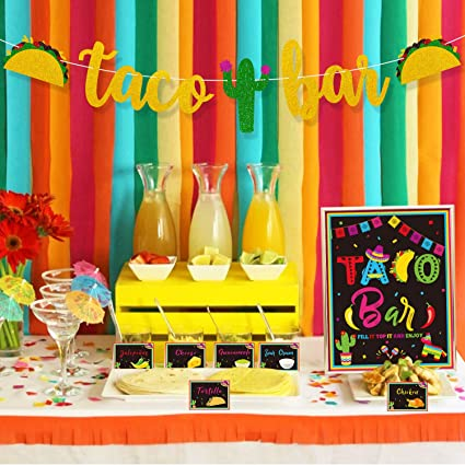 Amazon.com: Taco - Kit de decoración de barra – Cartel de ...