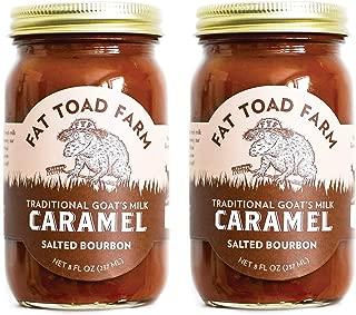 product image for Fat Toad Farm Traditional Goat's Milk Caramel Sauce, Salted Bourbon, 8fl oz Jar, 2-Pack, Cajeta, Gluten Free…