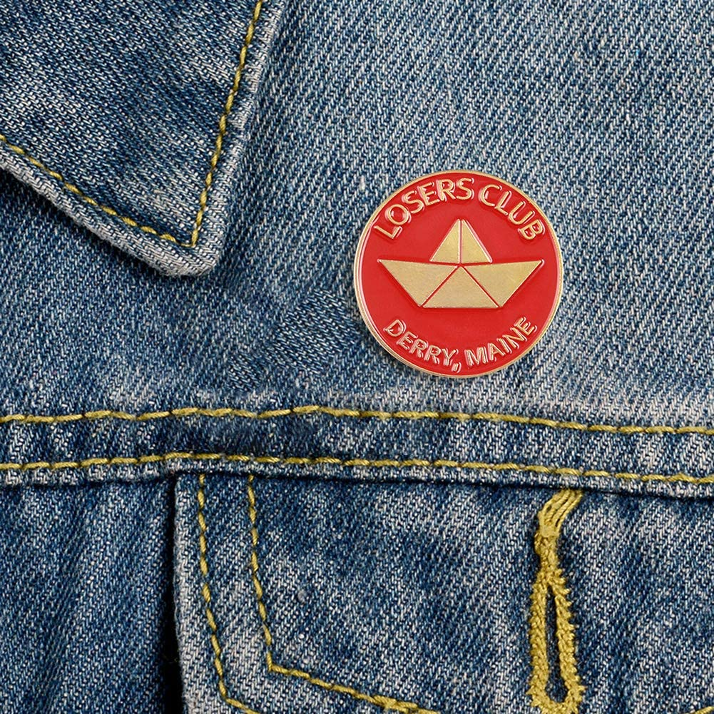 Prosperveil Broches Bande Dessin/ée Loser Club Badges Chemises V/êtements /épinglettes Ornements pour Femmes Filles Bijoux Cadeau