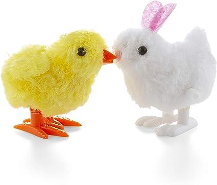 1 Pack Plush Children Toys Hopping Wind Up Easter Spring CLOCKWORK Bunny Toys