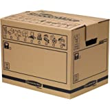 Bankers Box 62056 - Pack de 10 cajas de transporte y mudanza, medianas, color beige
