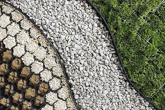 Delimitador para césped, bancal, borde de ladrillos, incluye 3 clavos por metro: Amazon.es: Jardín