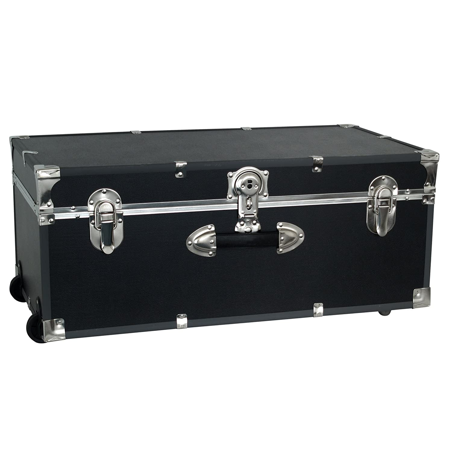 Gentil Seward Trunk Wheeled Footlocker, Black