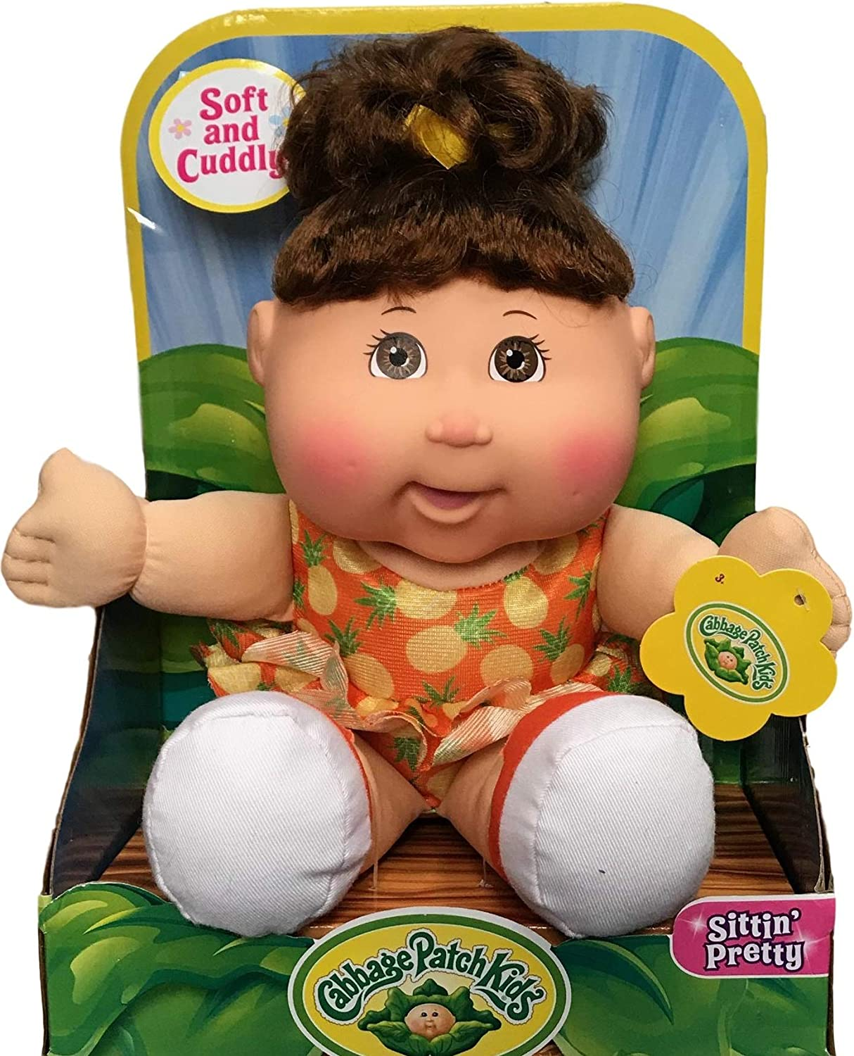 Brown Eyes//Pineapple Outfit Cabbage Patch Kids Sittin Pretty Soft /& Cuddly