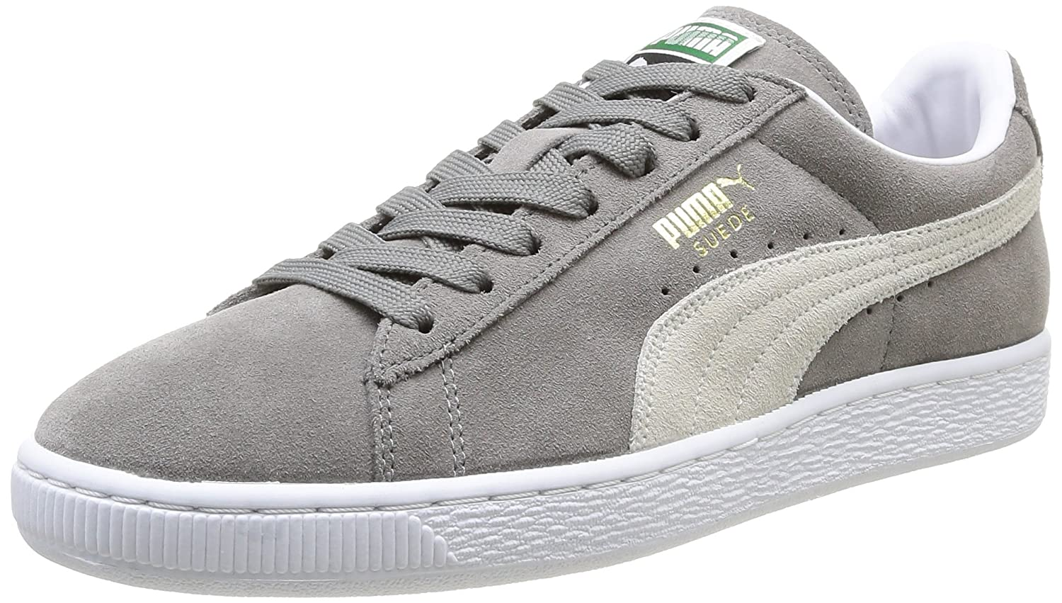 Puma Suede Classic+, Herren High-Top Sneaker  36.5 EU|Grau (Steeple Gray-white)