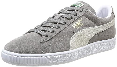 Puma Suede Classic Unisex Grigio/blu in pelle scamosciata Sneaker UK 6/EU Taglia 39