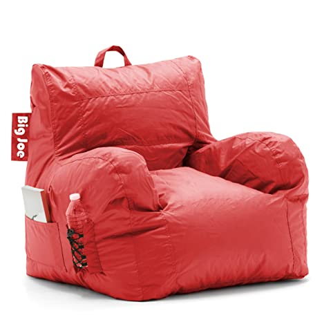 Remarkable Big Joe Dorm Bean Bag Chair Flaming Red Caraccident5 Cool Chair Designs And Ideas Caraccident5Info