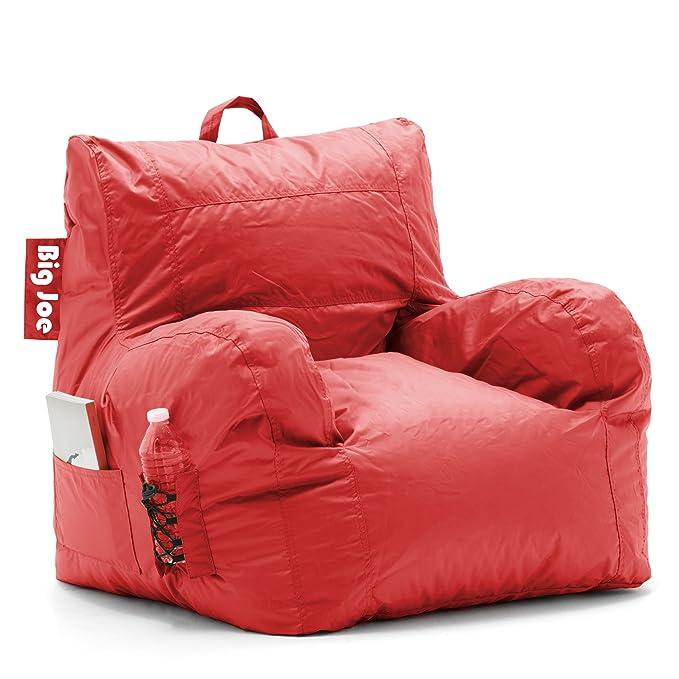 Amazon.com: Big Joe - Puf o silla de dormitorio, Tela, Rojo ...