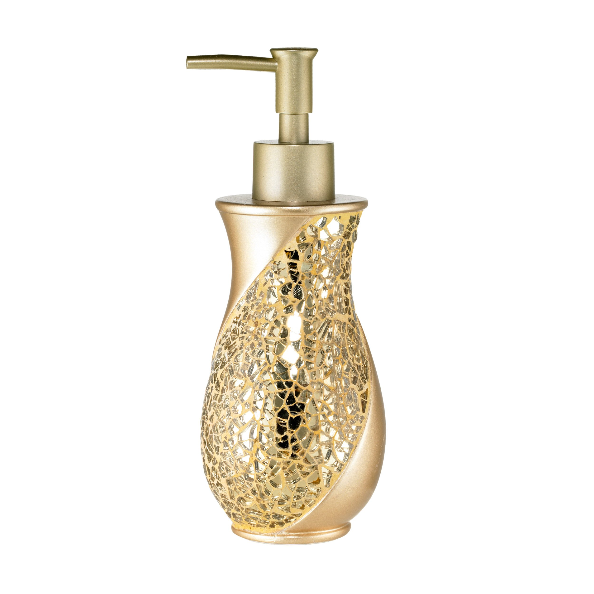 luxury gold stone bathroom lotion pump champange dispenser soap accessorie sset 190964521199