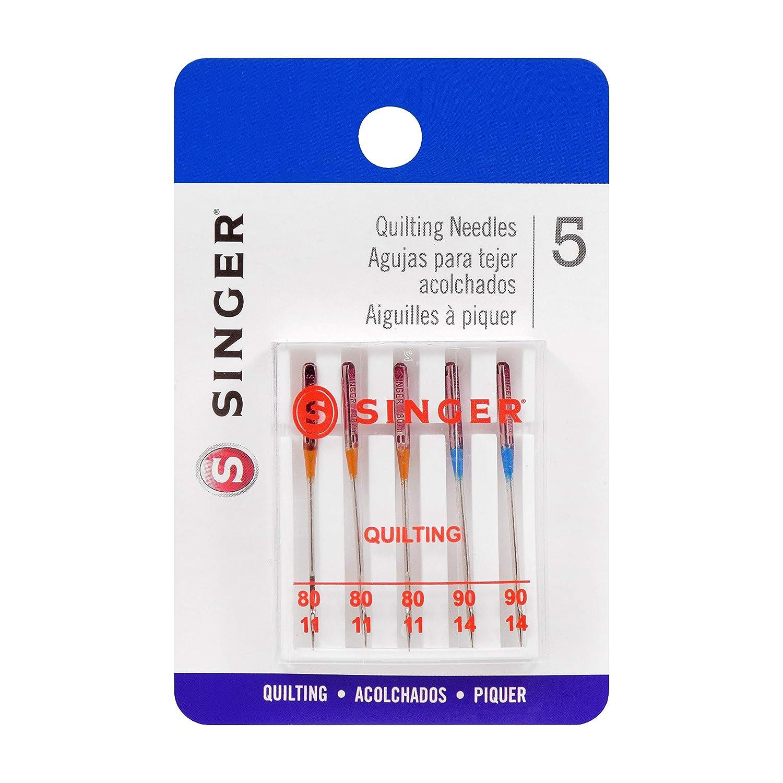 SINGER 44729 Quilting Machine Needles, Sizes 80/11 & 90/14, Multicolor 5 Count   B07KRWSDQT