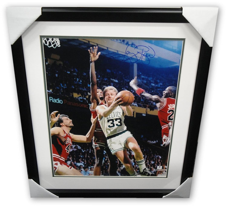 Larry Bird Signed Autographed 16X20 Photo Celtics Drive vs. Jordan GA GV  Framed at Amazon s Sports Collectibles Store e5217d7bd