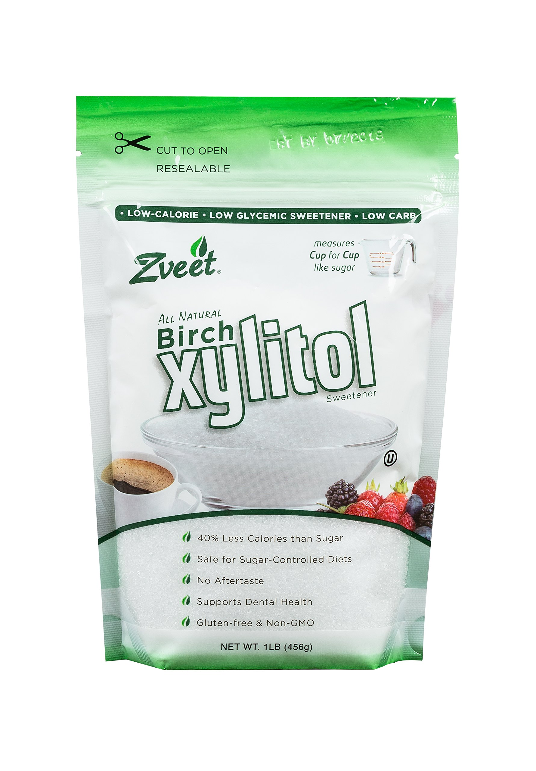 Zveet Birch Xylitol Sweetener (Made in USA) (1 LB) by Zveet
