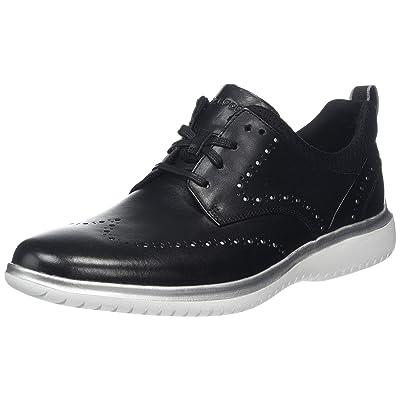 Rockport Men's Dressports 2 Fast Marathon Sneaker, Black/Silv, 095 M US   Fashion Sneakers