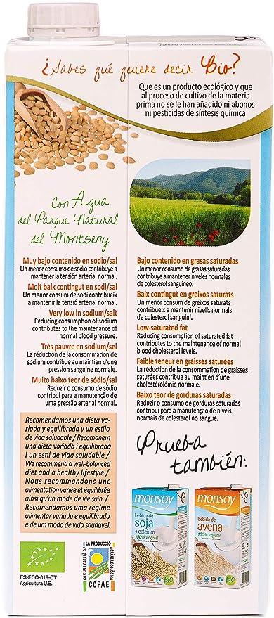 Monsoy 20431 - Bebida Ecológica de Arroz con Avellanas - Caja de 4 ...