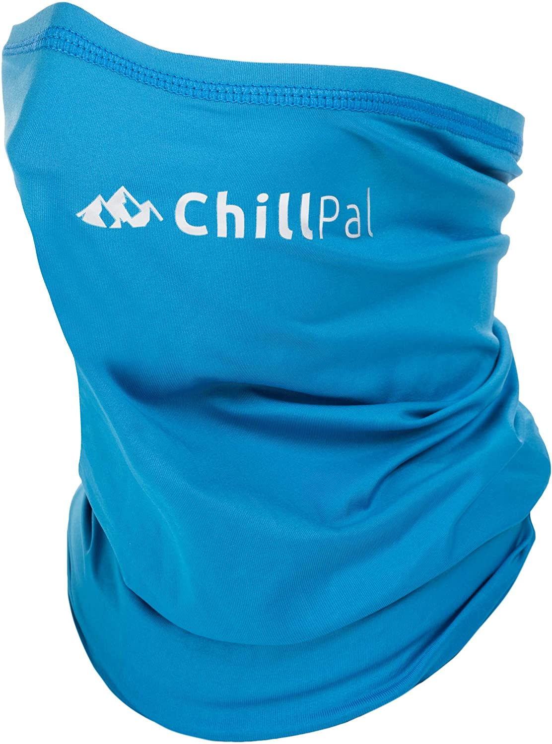 Chill Pal 12 in 1 Multi Style Cooling Towel Neck Gaiter Face Cover (Blue, Full Size): Sports & Outdoors