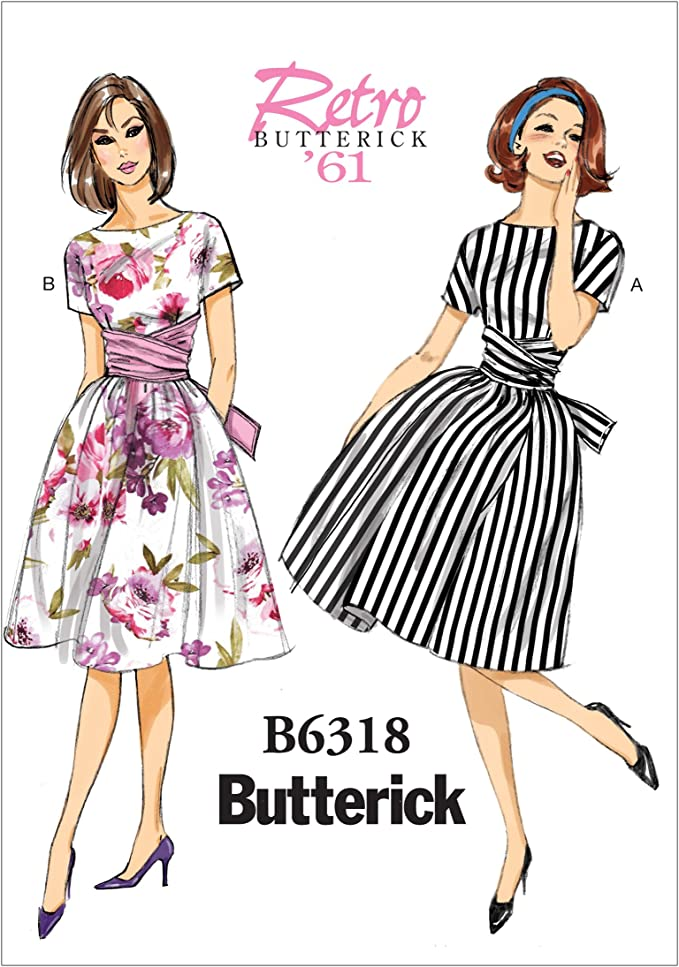 1960s Sewing Patterns | 1970s Sewing Patterns Butterick Pattern 6318 A5Misses DressSizes 6-14 (6-8-10-12-14) £7.60 AT vintagedancer.com