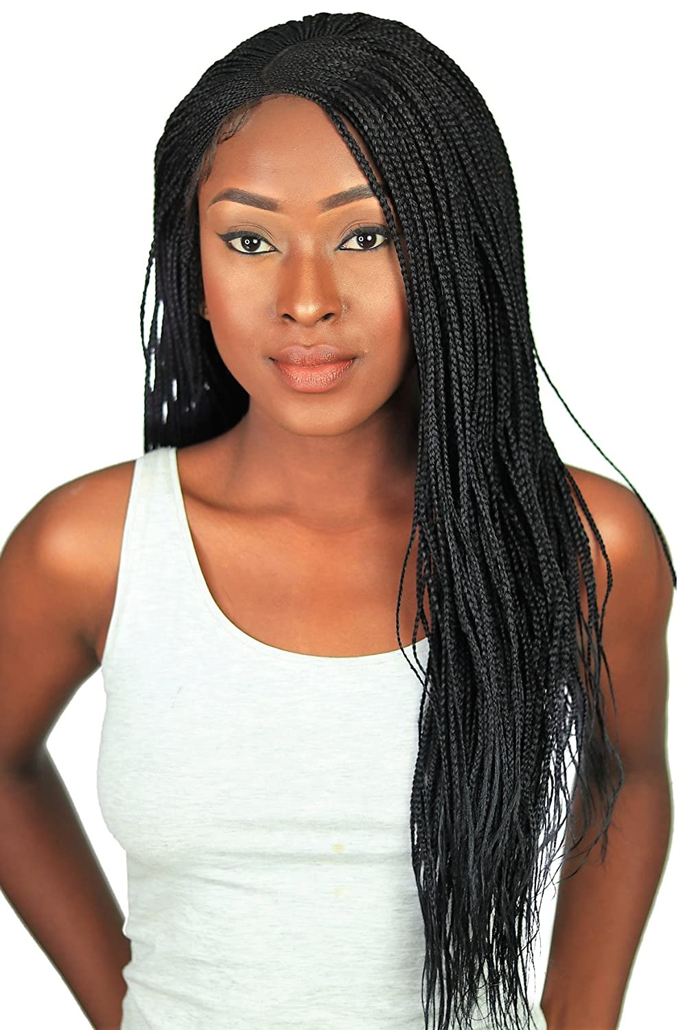 Cornrow Lemonade Side Part Braid Wig , Color 1,22 inches