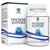 Thyroid Support Supplement - (Vegetarian) - A complex blend of Vitamin B12, Iodine, Zinc, Selenium, Ashwagandha Root, Copper, Coleus Forskohlii & more - 30 Day Supply