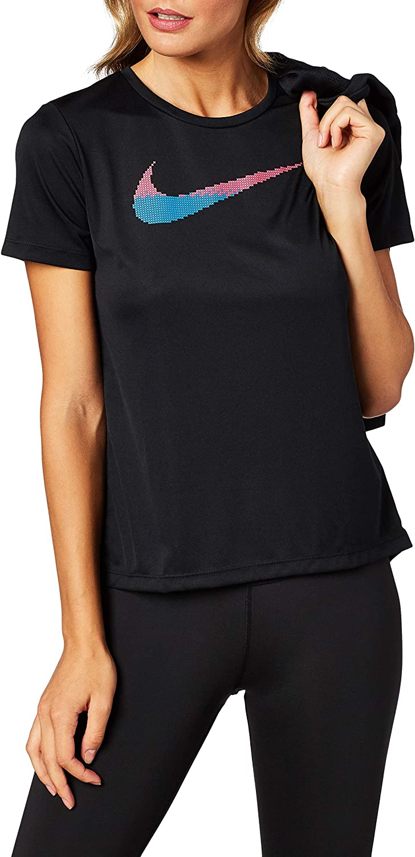 Nike – Camiseta de gimnasio para mujer – Tejido técnico – Negro
