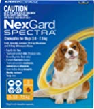 Nexgard, Flea, Tick & Worming Monthly Chew, Spectra, Dog, 3.6-7.5kg, 3pk