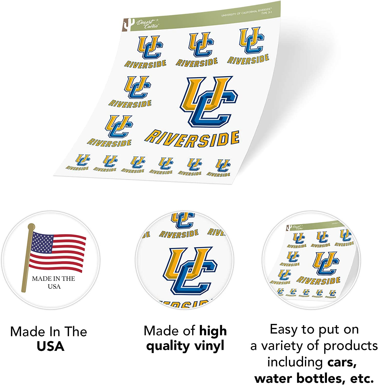 University of California Riverside UCR Highlanders NCAA Sticker Vinyl Decal Laptop Water Bottle Car Scrapbook Sheet Type 3-1