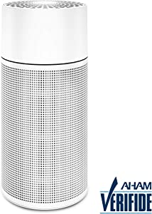 Blueair Blue Pure 411+ Air Purifier for home 3 Stage with Washable Pre-Filter, Particle, Carbon Filter, Captures Allergens, Odors, Smoke, Mold, Dust, Germs, Pets, Smokers, Small