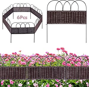 XCSOURCE Decorative Garden Fence Rattan Fence Outdoor Coated Border Folding Patio Fences Flower Bed Fencing Barrier Section Panels Decor Picket Edging