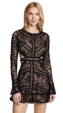 57a533c590da3 Image Unavailable. Image not available for. Color: For Love & Lemons  Women's Emerie Cutout Dress, Black ...