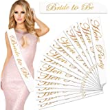 Outee 16 Pcs Hen Party Sash Bride to Be Sash Night Out Sashes for Girls Women Hen Night Party