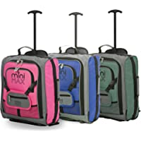 MiniMAX Childrens/Kids Luggage Carry On Trolley Suitcase with Backpack and Pouch for Your Favourite Doll/Action Figure/Bear