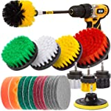 Holikme 22Piece Drill Brush Attachments Set,Scrub Pads & Sponge, Power Scrubber Brush with Extend Long Attachment All Purpose