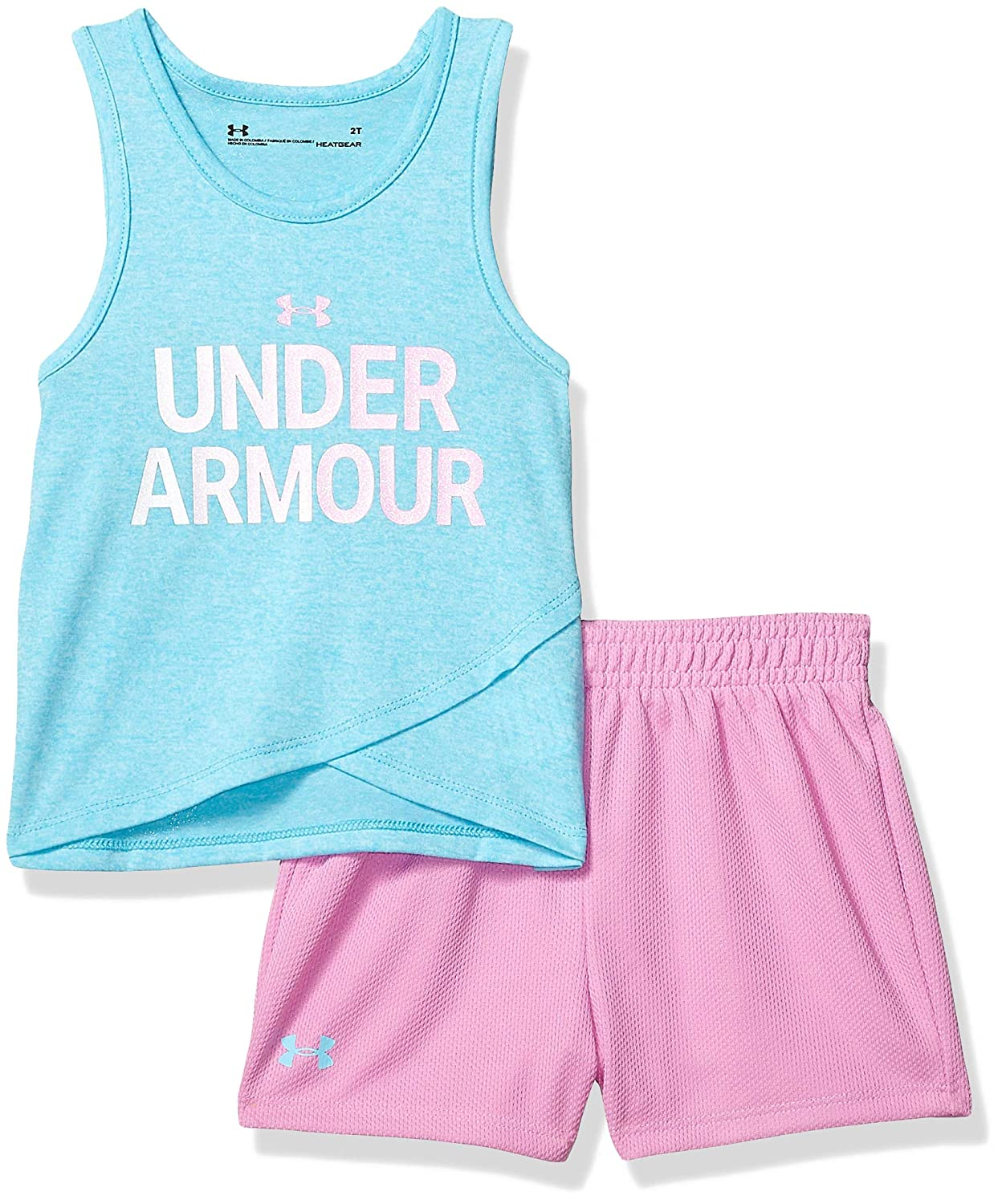 93b4e139b6de2 Under Armour Girls' Tank and Short Set