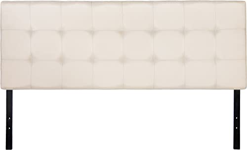 Amazon Basics Faux Linen Upholstered Tufted Headboard